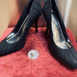 White House Black Market Black Cloth Pumps-Audrey